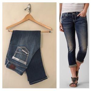 BKE Jeans Stella Cuffed Cropped Mid Rise 30